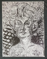 Jim Dine  The Black and White Nancy wood cut #1 Signed Art