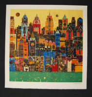 Jean-François Larrieu CITYSCAPE Signed Limited Edition Lithograph