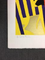 Ronald King Gold Rush Vintage Signed Silkscreen