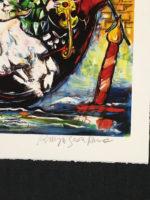 Raya Sorkine Amoureux de Venise Original Pencil Signed Lithograph Mourlot Paris