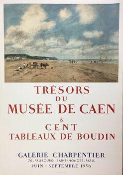 1958-Mourlout-Paris-Tresors-Du-Musee-De-Caen-Cent-Poster-Art493