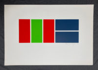Ian Tyson Rectangle Game #4 1970 Signed Limited Edition Silkscreen