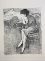 Raphael Soyer 1979 Limited Edition Portfolio 2 Signed – B&W + Color Lithographs