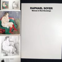 Raphael Soyer 1980 Woman in Red Stockings Print Portfolio Set of Lithographs