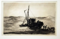 Reynolds-Beal-Driven-Ashore-1929-Original-Etching-Signed429
