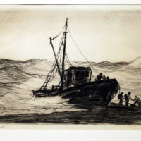 Reynolds-Beal-Driven-Ashore-1929-Original-Etching-Signed429
