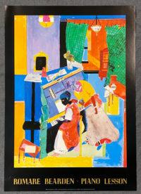 Romare Bearden The Piano Lesson Rare Exhibition Poster