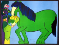 Walasse Ting GREEN HORSE 1981 Limited Edition Signed Lithograph