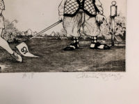 Charles Bragg  #18 from the Women In Golf Suite 1988 Signed Etching