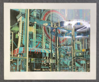 C.J. Yao  Building Reflection 1981 Signed Limited Edition Silkscreen
