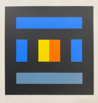 Ian Tyson Diversions XII 1970 Signed Limited Edition Silkscreen Abstract Art