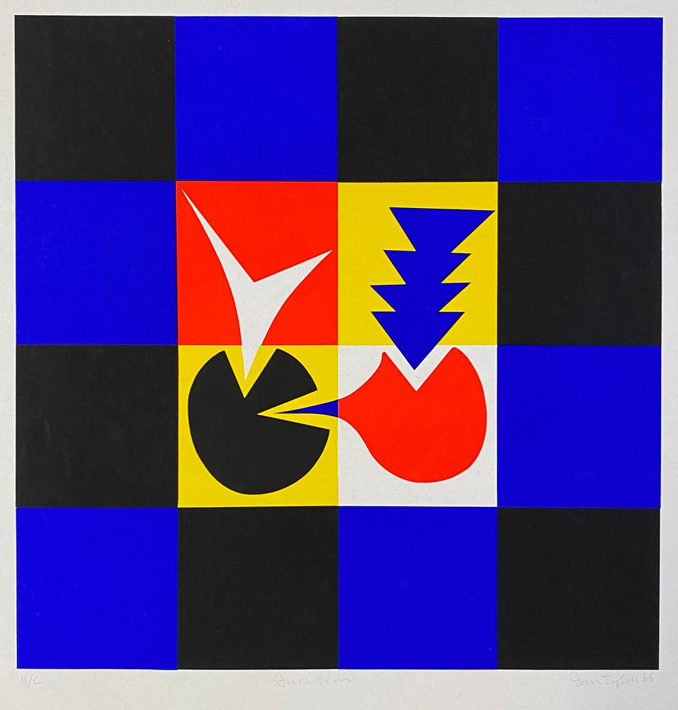 Ian Tyson  Diversions 1970 Art Print  Silkscreen on heavy paper   16/'/' x 15/'/'