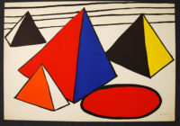 Alexander Calder 4 Great Pyramids Signed Lithograph