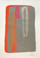 Larry Zox Niagara Series III Grey 1980 Signed Limited Edition Art Silkscreen