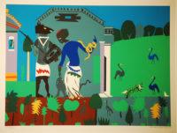 Romare Bearden Circe turns the companion of Odysseus into a swine 1978 Silkscreen