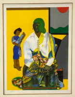Romare Bearden Signed Limited Edition Lithograph 1979 Framed