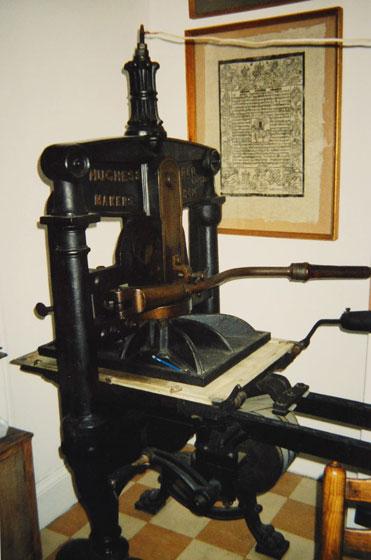 Frank Martin Printing Press
