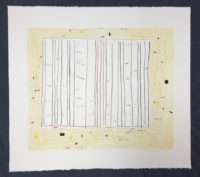 Gene Davis  Yellow Jack 1979 Lithograph on Arches Archival Paper