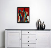 Lamar Briggs Signed Limited Edition Lithograph Spirit Coasas 1978 Abstract Art