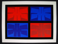 """Jimmy Ernst Plate III Art Original Print Silkscreen  37"""" x 28"""""""