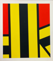 Pierre Clerk Plate V Yellow-Red 1973 Signed Limited Edition Silkscreen