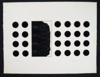 Harvey Daniels Black Dots 1965 Pop Art Original Signed Lithograph