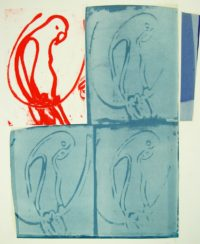 Harvey Daniels Parrots 1966 Original Signed Lithograph Pop Art