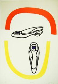 Harvey Daniels Pretty 1967 Pop Art Original Signed Lithograph