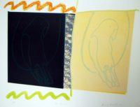 Harvey Daniels Two Parrots 1966 Original Signed Lithograph Pop Art