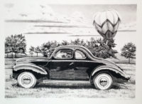 James Farrah Forty Ford Classic Car Original Signed Lithograph Print