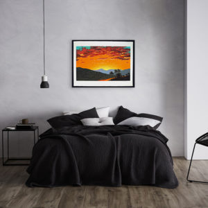 Bill Sullivan Sunset Framed in bedroom