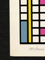 "Nicholas Krushenick Over the top 1978 Limited Edition Art Silkscreen 29"" x 23.5"""