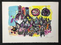 Robert Bennett Red Shift, White Dwarfs 1979 Pencil Signed Limited Edition Lithograph
