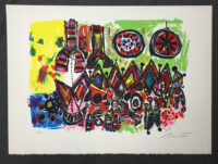 Robert Bennett Red Shift, White Dwarfs 1979 Signed Limited Edition Lithograph