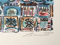 Robert Bennett Saturday Night on Planet X Signed Limited Edition Lithograph