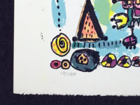Robert Bennett Talking Machines 1979 Limited Edition Signed Lithograph Abstract Art