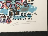 Robert Bennett Talking Machines #2 1979 Signed Limited Edition Lithograph Abstract Art