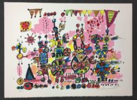Robert Bennett Talking Machines #4 1979 Abstract Art Signed Lithograph