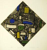 Robert Broner Night Stones 1967  Signed Etching Original Print