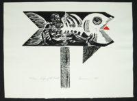 Robert Broner Sign of the Fish 1968  Signed Silkscreen Original Print