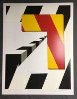 Allan D'Arcangelo Left Turn 1979  Original Serigraph Silkscreen Print