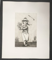 Charles Bragg  Fore! 1988 Signed Limited Edition Art Etching