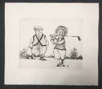 Charles Bragg The Perfect Couple 1988 Signed Etching Limited Edition