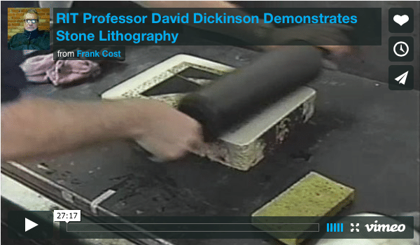 David Dickinson demonstrates the Process of Lithographic Printing