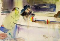 Sam Karres- Counter – Original Watercolor Painting on Paper