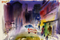 Sam Karres Detroit – Original Painting – Watercolor on Paper