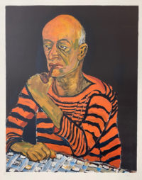 Alice Neel Portrait of John Rothschild 1980 Signed Limited Edition Lithograph