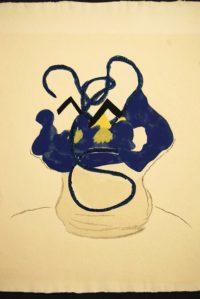 Georges Braque Flowers Woodcut 1962 Si je mourais là-bas (Vallier 181)