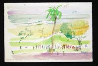 Sam Karres Shang Rila Hotel 5th Floor Santa Monica – Original Watercolor Painting on Paper