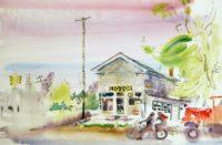 Sam Karres – Van Dyke at 24 Mile Rd – Original Watercolor Painting on Paper